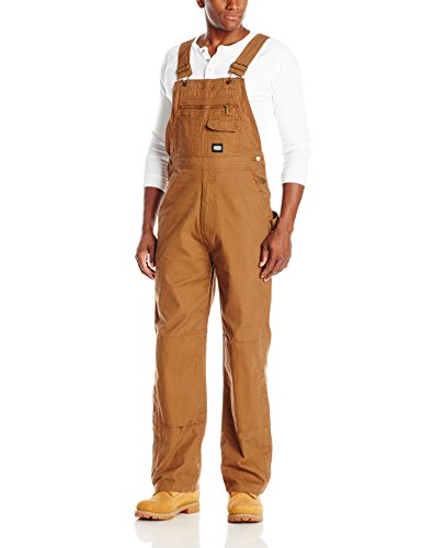 - Key Apparel Men's Big & Tall Unlined Duck Bib Overall, Saddle, 42W x 30L