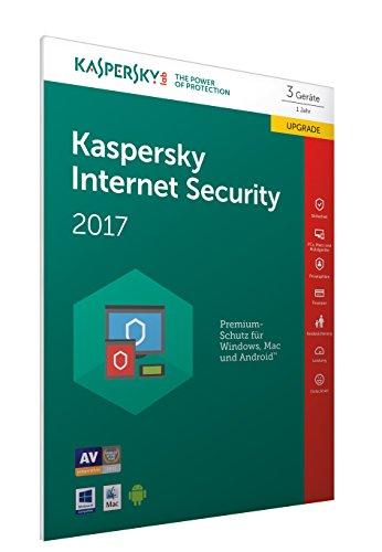 Kaspersky Internet Security 2017 3 Geräte - Upgrade [Online Code] (Frustfreie Verpackung)
