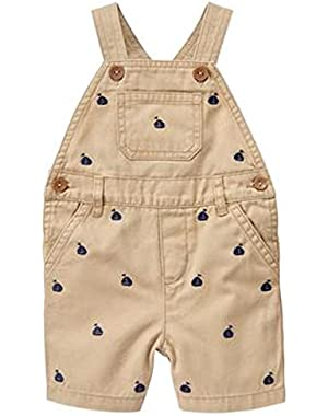 Baby / Toddler Boy's Khaki Sailboat Overall Shorts