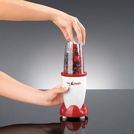 Magic color rojo Y blanco Batidora Peque/ña para Hacer Zumos Tv Das Original 03531 Mr