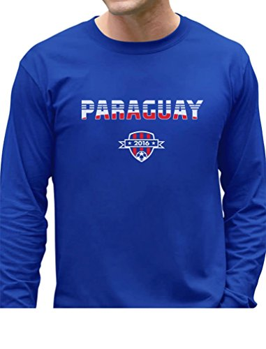 Paraguay National Soccer Team 2016 Paraguayan Fans Long Sleeve T-Shirt XX-Large Blue ()