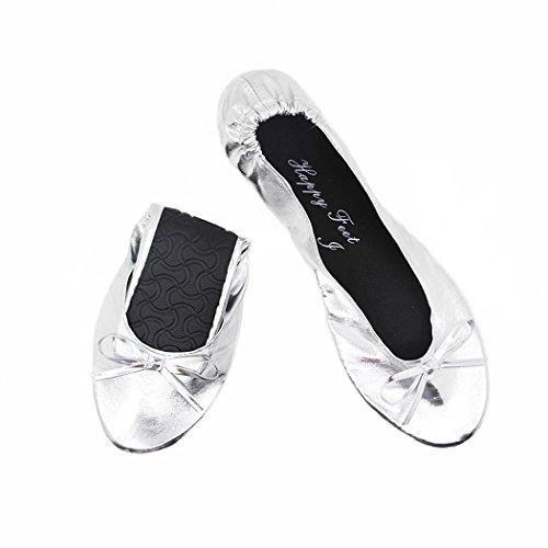 Happy Feet  Hfp01,  Damen Ballett Silbern glänzend