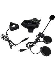 Fone de ouvido para capacete, Romacci Fone de ouvido para capacete de motocicleta Fone de ouvido sem fio Bluetooth 5.0 para motocicleta com microfone e suporte para fone de ouvido com motor de respost