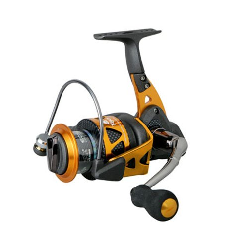 (Okuma Trio High Speed Spinning Reel, Blk/Orange, Trio-40S)