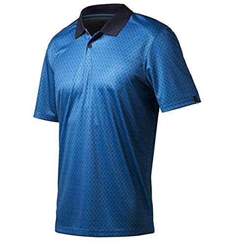 (Oakley Andrew Polo Golf Shirt Closeout New Men's New - Cali Blue 6CS)