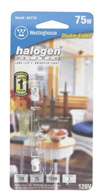 Westinghouse Double-Ended Halogen Bulb 75 W 750 Lumens T3 3-1/6 In. Clear Carded