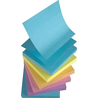 Staples Stickies 3'' x 3'' Assorted (12 Pads - Bold Color) by Staples