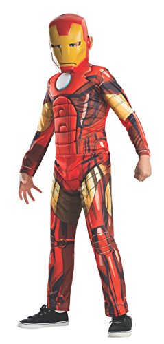 [Rubies Marvel Universe Classic Collection Avengers Assemble Deluxe Muscle-Chest Iron Man Costume, 44-48