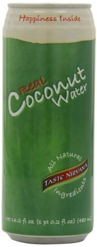 Taste Nirvana Real Coconut Water, 16.2-Ounce (Pack of 12)...