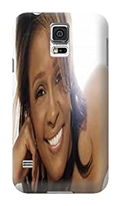 New pattern tpu hard case cover back skin protector for Samsung Galaxy s5(Whitney Houston) by Shari Flanders