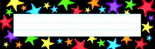 Trend Enterprises Gel Stars Desk Toppers Name Plates, 36 per Package (T-69040)