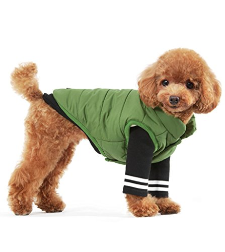 PetBoBo Pet Clothes for Dog Cat Puppy Winter Sweatshirt Warm Sweater Hoodie Dog Coat Green XL