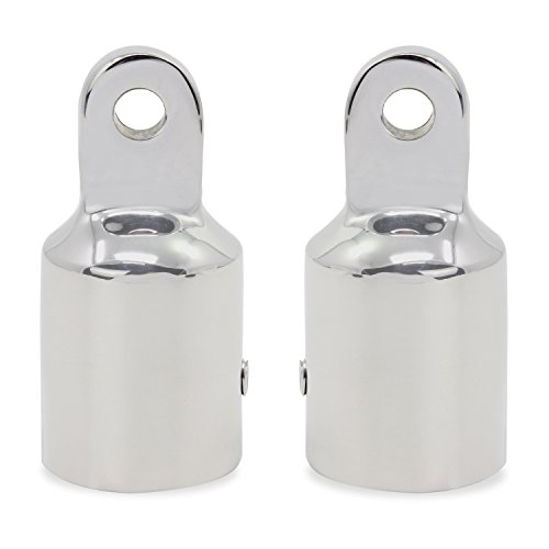 Top Cap Bimini (OCR Bimini Top Fitting Stainless Steel Pipe Eye End Cap for Boat Marine Stainless Steel (22mm-2pcs))