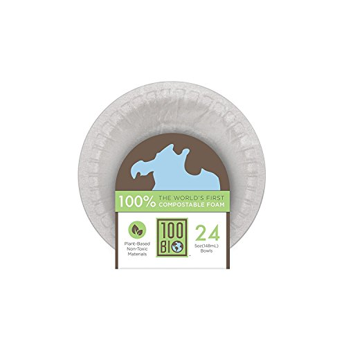Bowl 5oz 100% Compostable, Non-Toxic, Non-Cancerous, Plant-Based, Foam Food Packaging (1100) -