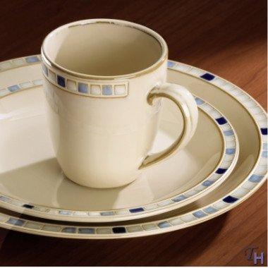 Dansk 16 Piece - Dansk Compass Blue 16 Piece Dinnerware Set