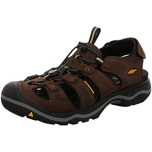そうでなければ批判的にコットンKeen(キーン) メンズ 男性用 シューズ 靴 サンダル フラット Rialto - Black/Gargoyle [並行輸入品]