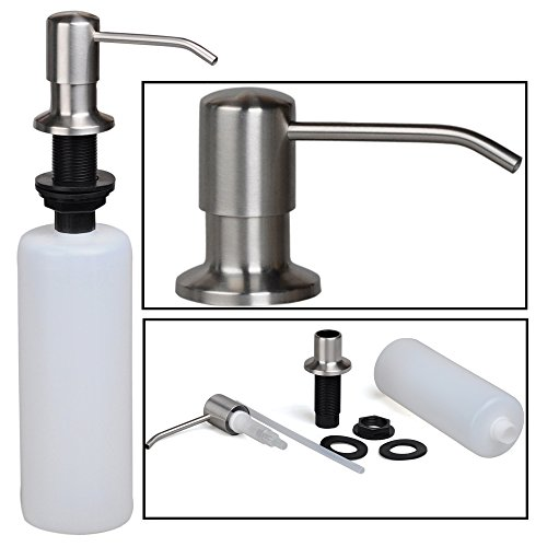 Stainless Steel Built In Pump Kitchen Sink Dish Soap Import It All