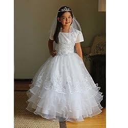 Angels Garment White Taffeta Organza Holy Communion Dress Girl 16