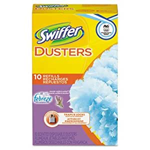 Refill Dusters, Dust Lock Fiber, Yellow, 10/Carton