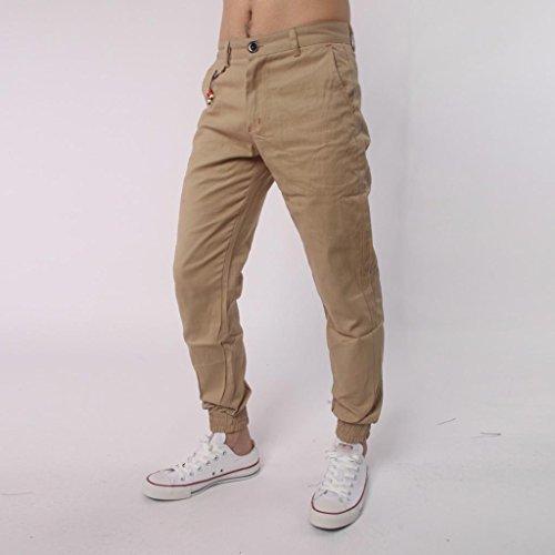Jeans Con Hippie Bolsillos Deportivos Slim Caqui Manadlian Vaqueros Skinny De Pantalones Fit Pantalones Harem Hombres qOwS18IO