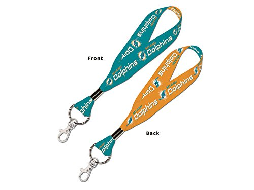 WinCraft NFL Miami Dolphins Lanyard Key Strap, 1