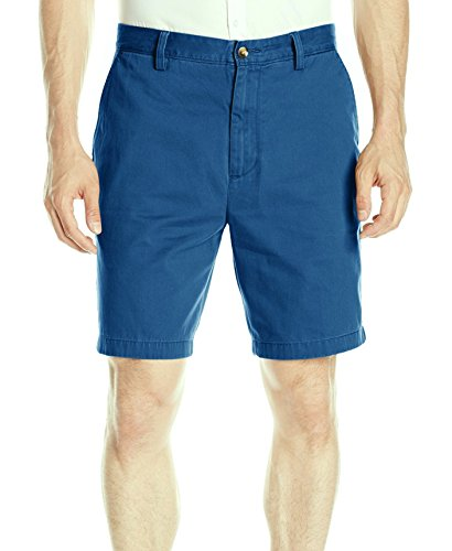 Nautica Men's Cotton Twill Flat Front Chino Deck Short, Bohemian Teal, - Sunnies Your Get Online
