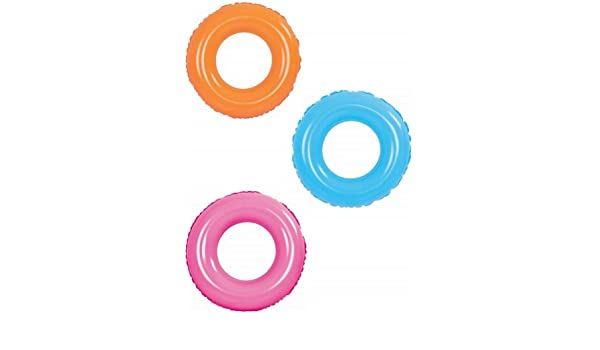 Circular rueda neon hinchable de 90 cm. flotador: Amazon.es ...