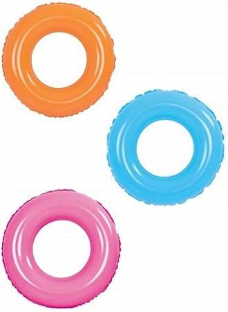 Circular rueda neon hinchable de 90 cm. flotador: Amazon.es: Juguetes y juegos