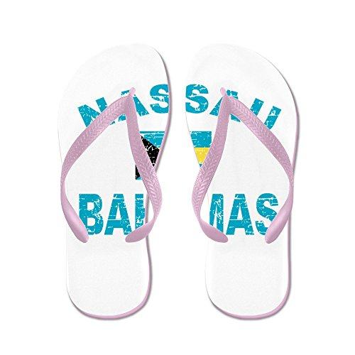 Cafepress Nassau Bahamas Design - Flip Flops, Roliga Rem Sandaler, Strand Sandaler Rosa