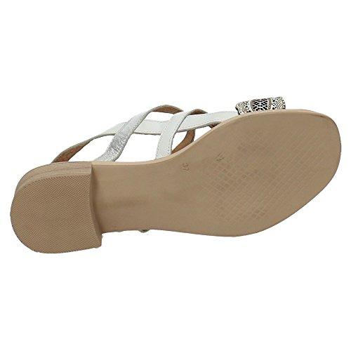 Blanc femme NOELIA argenté sandales argenté femme NOELIA Blanc sandales NOELIA xqT8fRf7w