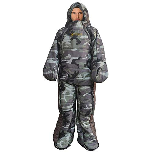 Woolala Full Body Wearable Sleeping Bag Adults for Home or Office Use, Body Suits Quilt/Blancket for Cold Weather with Arm/Leg Holes ()