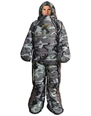 Woolala Full Body Wearable Sleeping Bag Adults for Home or Office Use, Body Suits Quilt/Blancket for Cold Weather with Arm/Leg Holes