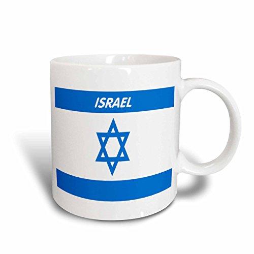3dRose mug_44786_1 Israeli Flag Ceramic Mug, 11 oz, White (Israeli Ceramic)