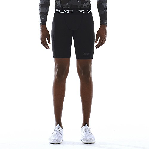 (RUXN CS019 Mens Compression Shorts - Workout Short Pants for Men - Active Sports Quick Dry Underwear Athletic Tights Base Layer HeatGear Cold Weather Gear (M, Black))