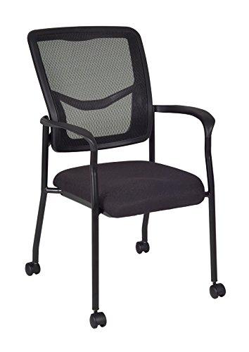 Regency Kiera Guest Chair with Casters, Black