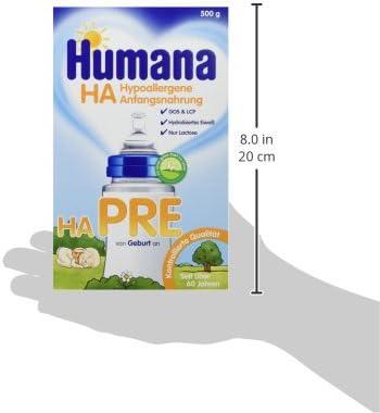 Ernährung 250g Humana Hypoallergene Anfangsnahrung Ha 1 500 G 2 Beutel A Babykost