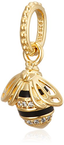 Queen Bee Pendant, PANDORA Shine, Black Enamel & Clear CZ (Enamel Bee Pendant)