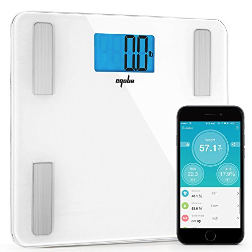 Magma B16070007-01 - Monitor de grasa corporal digital con Bluetooth (escala 8 de precisión, medidas de composición), color...