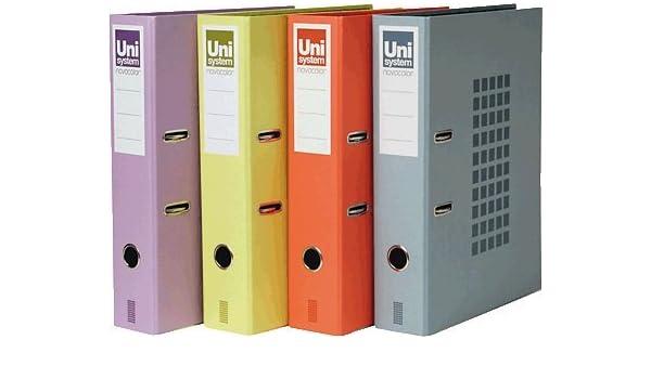 Unisystem 928733 - Archivador de palanca, 350 x 290 x 70 mm, color azul: Amazon.es: Oficina y papelería