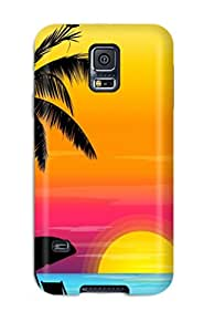 New Style 4690013K87378077 Rugged Skin Case Cover For Galaxy S5- Eco-friendly Packaging(vector Art)