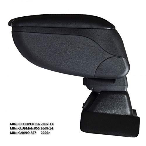 (Armrest Car Center Console Storage Box Black Centre Arm Rest Suitable for Mini Cooper II Clubman R55 R56 R57 2007-2014)