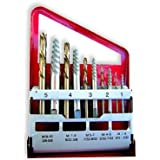 10pc Screw Extractor | Left Hand Cobalt Drill Bit Set Easy Out Broken Bolt by Tap Extractors