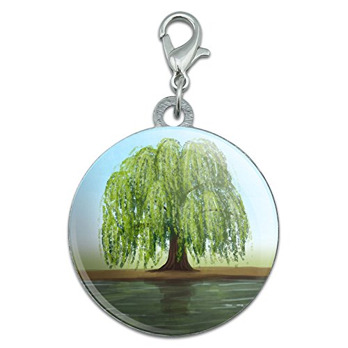 Old Weeping Willow Tree Stainless Steel Pet Dog ID Tag