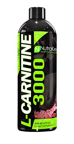 NutraKey L-Carnitine 3000 Liquid Fat Burner, Delicious Watermelon, 31-Servings by NutraKey