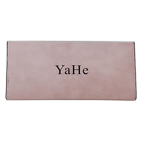 YaHe Women's Wallet Leather Ultra-thin Envelope Ladies Purse Travel Clutch ,One Purse Extra Capacity(pink) (Ultra Thin Envelope)