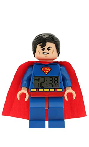 LEGO DC Comics 9005701 Super Heroes Superman Kids Minifigure Light Up Alarm Clock | Blue/red | Plastic | 9.5 inches Tall | LCD Display | boy Girl | Official for $<!--$27.00-->