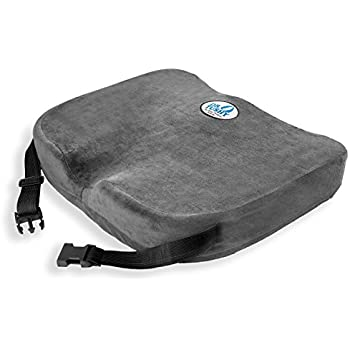 Memory Foam Chair Cushion Pillow with Straps, Best Comfort & Wider for Lower Back Pain, Sciatica, Wheelchairs, & Car Seats by Dr. Tushy