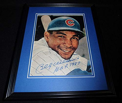 Autographed Billy Williams Photograph - Framed 11x14 Display HOF - Autographed MLB Photos