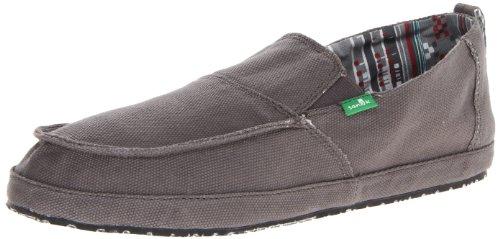 Sanuk Men's Commodore Slip-On Loafer,Charcoal,9 M US