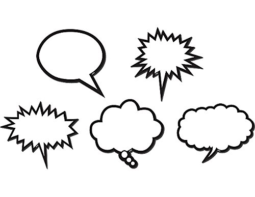 - Teacher Created Resources Speech Bubbles Magnetic Accents, Black & White (77203.0)